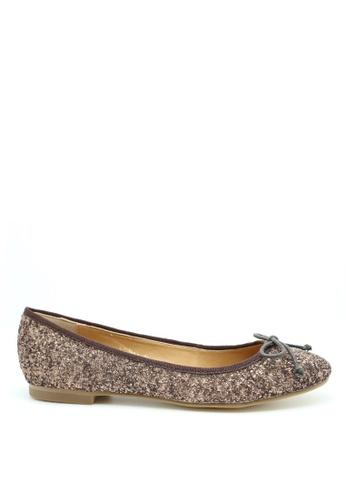 PRODUIT PARFAIT 褐色 閃粉平底鞋 99C25SHE372667GS_1