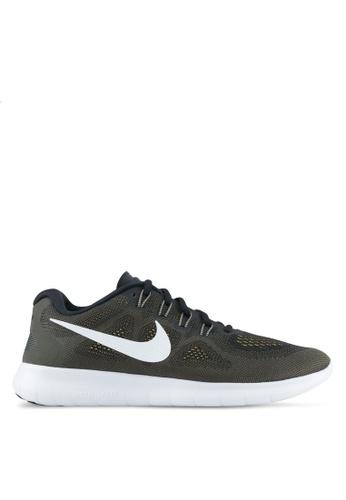 Nike black Men's Nike Free RN 2017 Running Shoes NI126SH0STR3MY_1