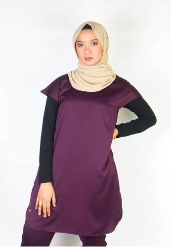 Zaryluq purple Turtleneck Sleeveless Slip Top in Merlot 9F6BEAA89D1E08GS_1