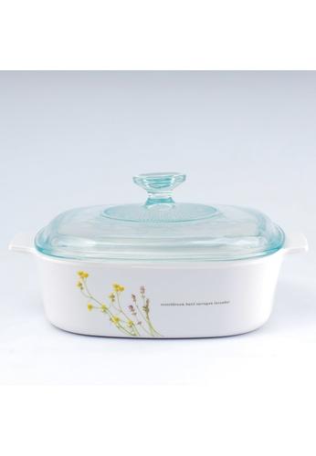 Corningware white Corningware 2L Covered Casserole - European Herb 21DA1HLA7F9D9EGS_1