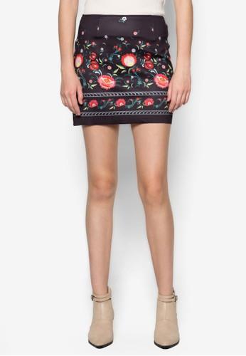 印花短裙, 服飾, zalora 包包 ptt服飾