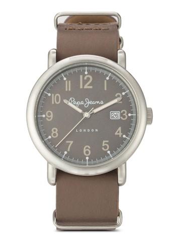 R2351105013 Charlie 簡esprit tsim sha tsui約皮革圓錶, 錶類, 飾品配件