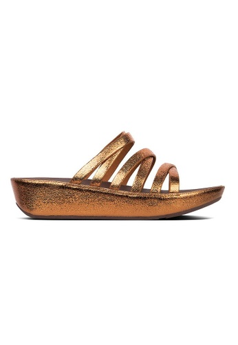 351f340cf Fitflop brown Fitflop Linny Molten Metal Slide (Bronze) 02541SH6639C54GS 1