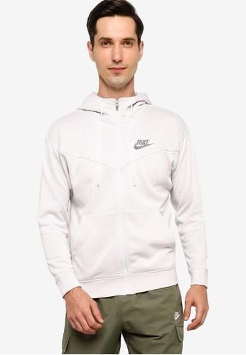 Nike white Men's Sportswear Hoodie 0914DAABE577E6GS_1