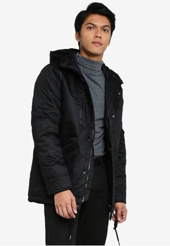 Indicode Jeans 黑色 Chance Hooded Parka 外套 475ECAA3CBAAC8GS_1