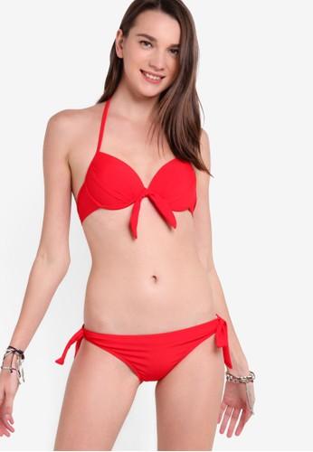 繫帶集中托高比esprit 台北基尼泳裝, 服飾, 比基尼