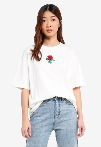 Something Borrowed white Oversized Boyfriend Tee with Graphic 77209AA3328F93GS_1