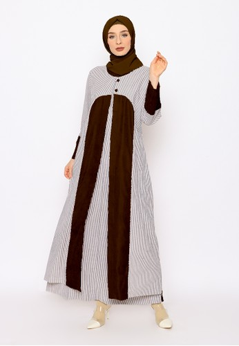 Edissy Fashion brown Tiqasya Dress Rompi Codoray 30D65AABFE803FGS_1