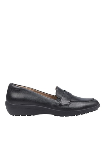 Easy Spirit black ESSOLSTICE Leather Casual Flats 242A7SHFF6B23BGS_1