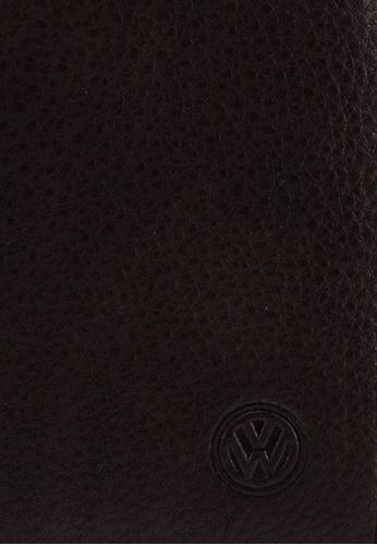 Volkswagen brown Genuine Leather RFID Blocking Long Wallet D1753ACA113635GS_1
