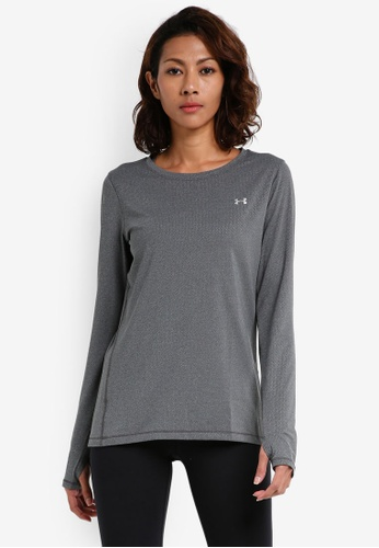Under Armour green UA HG Armour Long Sleeve Top UN337AA0SU2HMY_1