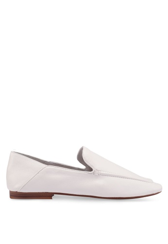 Mango white Leather Loafers FA504SH3D14E87GS_1