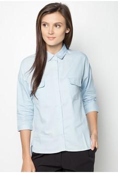 Long Sleeved Chambray Boyfriend Shirt