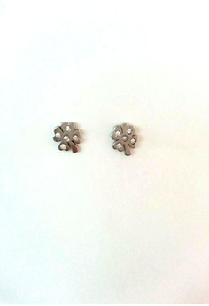 Lucky Clover Earrings in Stainless Steel Silver