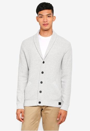 Hollister 灰色 翻領針織罩衫 59047AA6E4E423GS_1