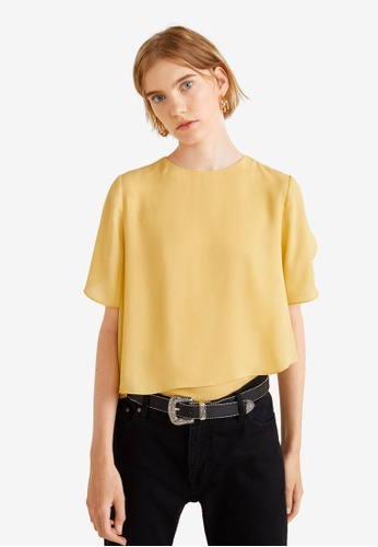 Mango yellow Double-Layer Blouse 0500DAAB873D39GS_1