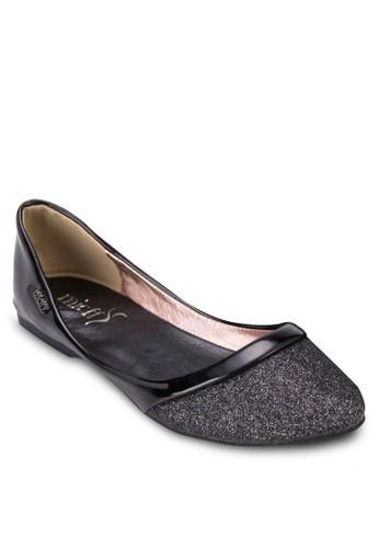 閃飾尖頭平底鞋, 女鞋, 芭蕾平esprit salon hk底鞋