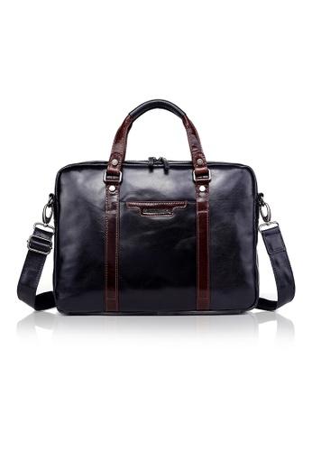 "ENZODESIGN brown and blue ENZODESIGN Fine Buffalo Leather 15"" Macbook Slim Brief CFA1CAC8621134GS_1"
