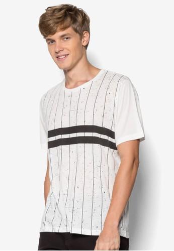 運動風設計TEE, 服飾, 條紋esprit 京站T恤