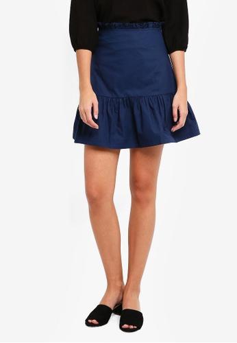 ZALORA navy Paperbag Skirt 6F30CAAAC08DCEGS_1