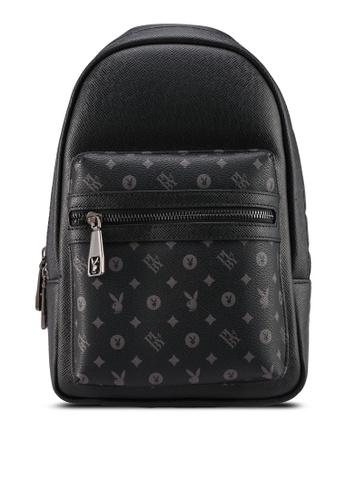 Playboy black Logo Crossbody Bag 71DC8ACFEF96C0GS_1
