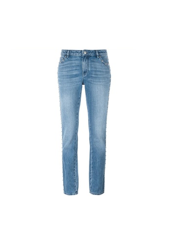 GIVENCHY blue Givenchy Studded Tapered Leg Jeans in Blue 2C543AACEA8887GS_1