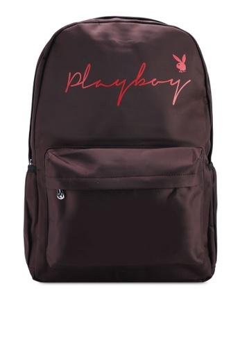 Playboy brown Playboy Backpack 799A8AC01E91EBGS_1