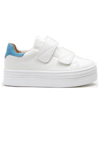 Crystal Korea Fashion 白色 韓國製百搭便利貼厚底休閒鞋 1C917SH3C2CDD4GS_1