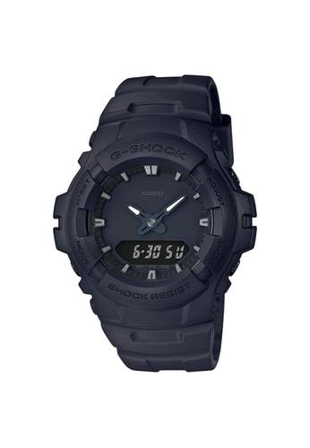 G-SHOCK black Casio G-Shock Men's Analog-Digital Watch G-100BB-1A Black Resin Band Sports Watch AEBE5ACF3E99FBGS_1