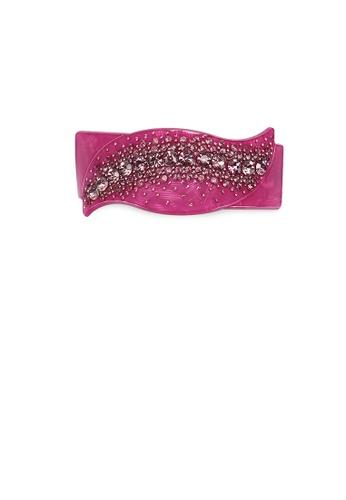 Glamorousky purple Simple and Fashion Purple Leaf Hair Slide with Cubic Zirconia AEB95ACAEEB5E7GS_1