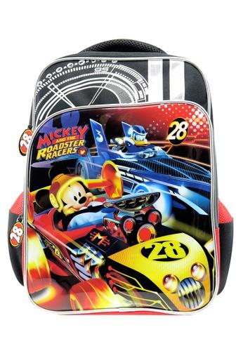 Disney Mickey black Disney Mickey Mouse Roaster Race Pre-School Bag E6304KC74A0A1CGS_1