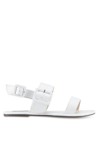 ZALORA white Double Strap Sandals DFEF7SH4160D59GS_1