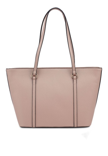 New Women's Faux Leather Two Toned Panel Casual Tote Bag Handbag