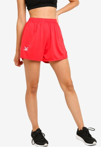 FBT red FBT Straight Cut Running Shorts 5EB73AA1D086E1GS_1