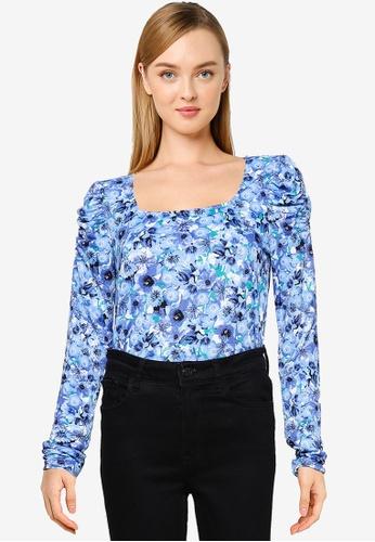 Vero Moda blue Dicte Long Sleeves Top 87288AA6C6B201GS_1