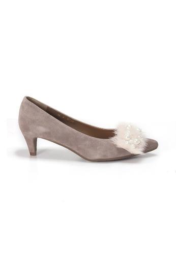 Shu Talk pink LeccaLecca Gorgeous Faux Fur Heels 8A49ASH5731AB0GS_1