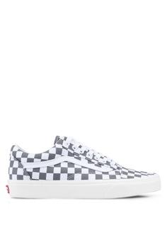 f4679f011 VANS grey Old Skool Checkerboard Sneakers 06ABBSHD7B788BGS_1
