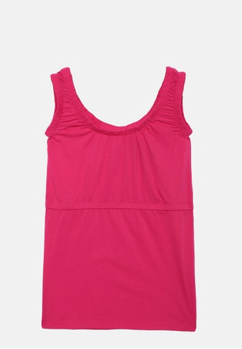 ZALZA pink Orchid 100% Organic Cotton Knitted Girls Sleeveless Top - Raspberry A9E39KA11915E6GS_1