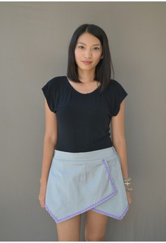 Samantha Origami Shorts - Grey