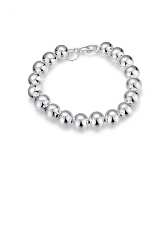 Glamorousky silver Simple Geometric 10MM Ball Bead Bracelet 9C179AC36D037DGS_1