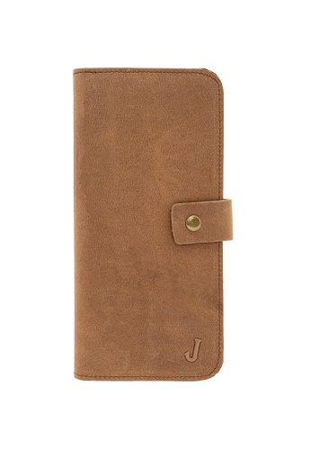 Jack Studio yellow Jack Studio Leather Snap Closure Long Wallet 0109EAC46DE938GS_1