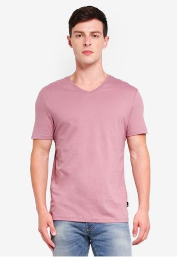 Burton Menswear London 粉紅色 短袖T恤 19CC1AADBA7F4AGS_1
