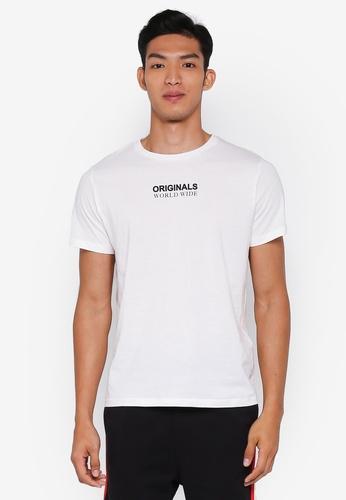 Jack & Jones 白色 休閒印花T恤 1D718AA90BEFA7GS_1