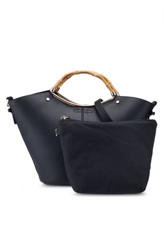 10b774f5e TOPSHOP black Tyler Bamboo Handle Tote Bag 73F61AC4D646FCGS_1