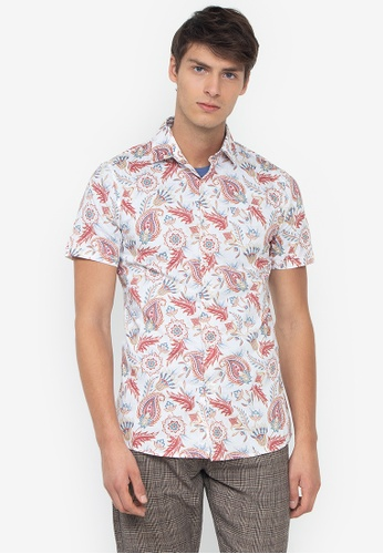 451378181f2ac Shop Topman Light Paisley Print Shirt Online on ZALORA Philippines