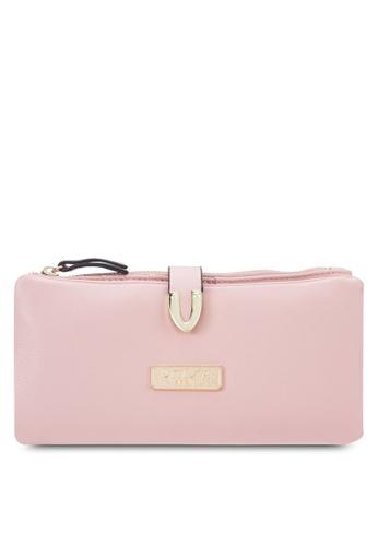 Unisa pink Soft Supple Bi-Fold Wallet With Metal Tip UN821AC64EJZMY_1