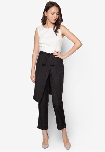 Sandra 裹飾連身長褲, 服飾, 連身zalora鞋褲