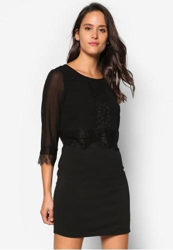 蕾絲修身剪裁連衣裙 , 服飾esprit hong kong 分店, 洋裝
