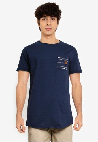 Indicode Jeans navy Villeneuve Pocket T-Shirt E0DF0AAB62860CGS_1