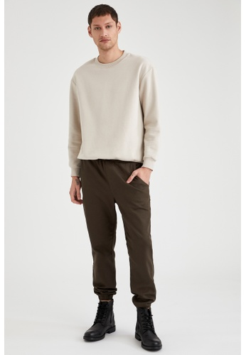 DeFacto green Slim Trousers 26E10AAA2F9E94GS_1